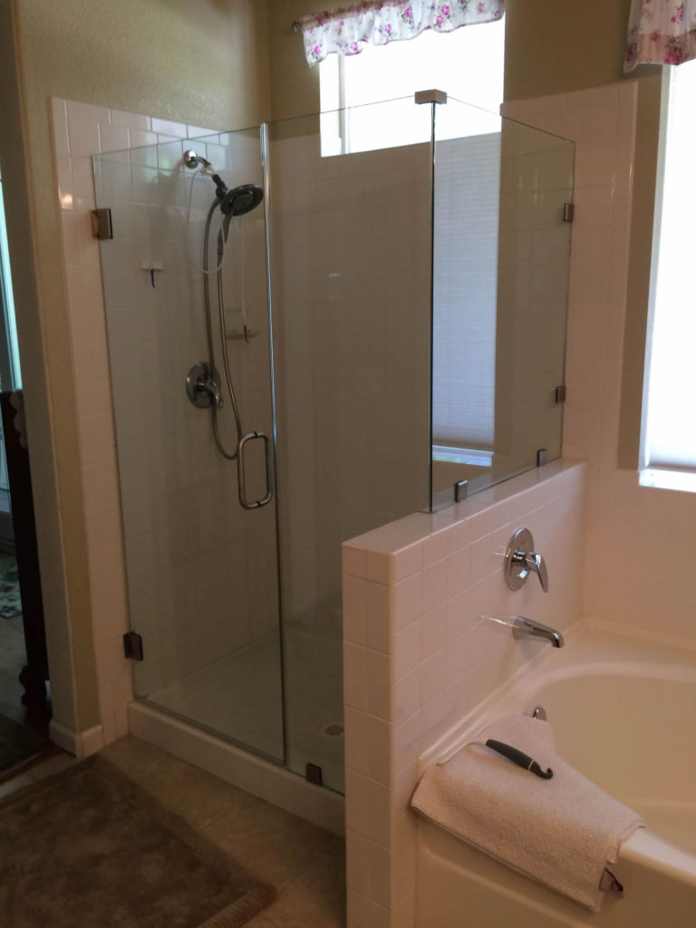 Frameless Shower Enclosure with Original Tile Surround January 2019