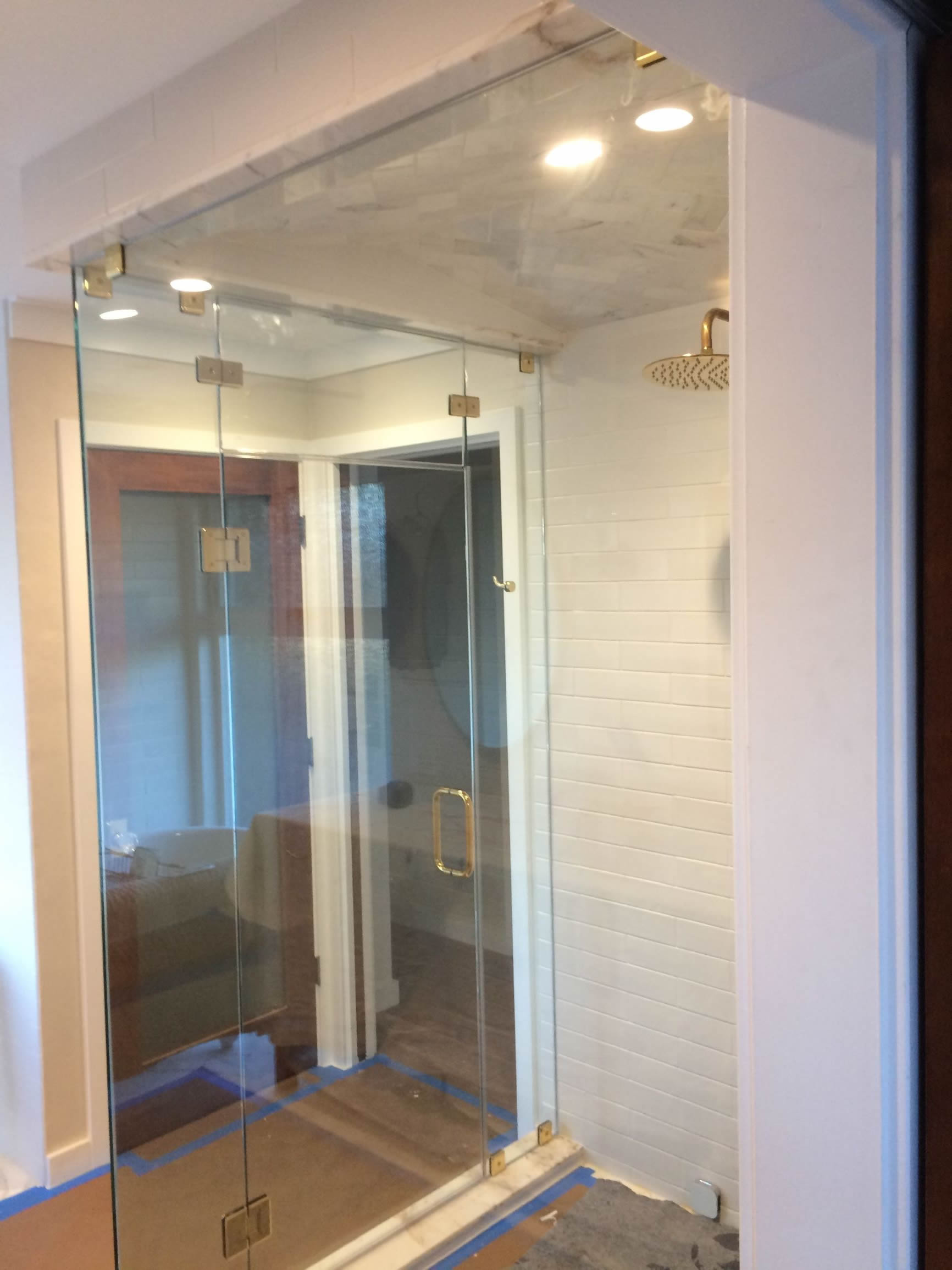 Frameless Steam Shower Profile Back Right January 2019
